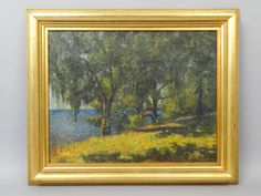Superb-Estate-Found-DW-Stokes-Florida-River-Landscape-Spanish-Moss-Oil-Painting