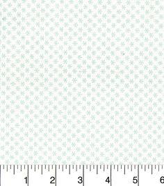 Keepsake Calico Holiday Cotton Fabric-Ditsy Snowflakes Blue On White