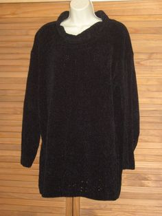 Hunt Club Soft Black Tunic Over Sized Sweater Long Sleeve Size M #CL241 | Clothing, Shoes & Accessories, Women's Clothing, Sweaters | eBay!