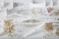Detalle de maqueta. Maqueta. Nuevo Centro de Aprendizaje de la Ecole Polytechnique por Sou Fujimoto Arquitectos, Manal Rachdi Oxo architects y Nicolas Laisné. Imagen de maqueta © Roberta Donatini. Señala encima de la imagen para verla más grande.