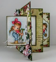 From My Craft Room: Love Blooms...Lever Card - Magnolia-licious 'Fancy Folds'