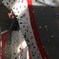 Eldorado, the nation's leading climbing wall construction company, designed and built the rock climbing wall for the University of Arkansas Fort Smith.