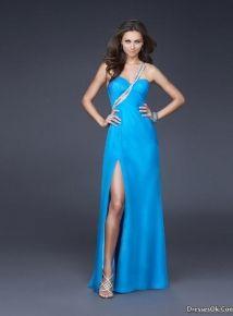 Classic Sheath/Column Sweetheart Floor-length Aqua Chiffon Beading Prom Dress, Beautiful Prom Dresses