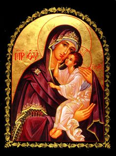 Orthodox Icon ~ Mother of God, Lovingkindness~ Icon Print Mounted on Wood - Blessed Mother Mary, Blessed Virgin Mary, Religious Icons, Religious Art, Writing Icon, Christian Artwork, Religious Paintings, Religion, Byzantine Icons