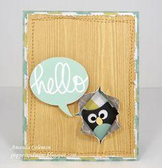 Peeking Owl Hello Card