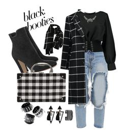 """""""#blackbooties"""" by woodfolk57 ❤ liked on Polyvore featuring Boohoo, WithChic, White House Black Market and blackbooties"""