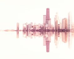 Landscape Photography Chicago skyline Wood Photo by TraceyCapone Gorgeous