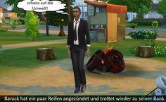 Sims 4 Welt Story – Barack und Festus im Park Sims 4 Stories, 4 Story, Park, Parks