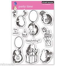New Penny Black PARTY TIME Clear Stamp Cupcake Happy Birthday Hedgehog Critters