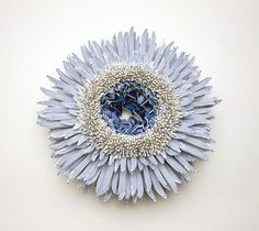 Blue & White porcelain shards flower_1