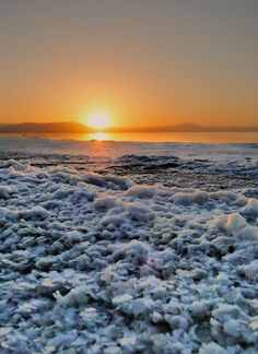 Sunset over Urmia Lake (the third biggest salt lake in the world), Iran - on the shore, salt crystals Travel Pictures, Cool Pictures, Places Around The World, Natural Wonders, Afghanistan, Amazing Nature, Mother Earth, Beautiful Places, Country