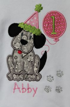 Personalized Tshirt for Baby Girls Happy by AppliquesByGranjan, $23.00