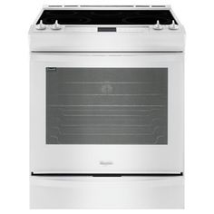Whirlpool Gold Smooth Surface 5-Element 6.2-cu ft Self-Cleaning Slide-In Convection Electric Range (White) (Common: 30-in; Actual: 29.875-in)
