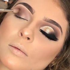 Ball Makeup, Prom Eye Makeup, Dramatic Wedding Makeup, Wedding Eye Makeup, Gold Eye Makeup, Eye Makeup Steps, Makeup Eye Looks, Eye Makeup Art, Gold And Brown Eye Makeup