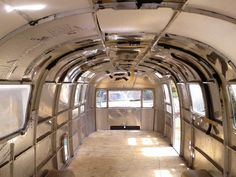 Interior of my 31' Airstream is clean, with new floor, ready for interior build out.