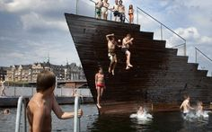Swimming in the #Copenhagen Harbour #IslandsBrygge