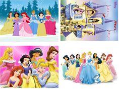 Lot Of 4 Disney Princess Fabric Panel by CraftyDesignNBargain, $4.99