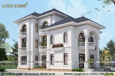 Mẫu Biệt Thự Tân Cổ Điển Pháp 3 Tầng Tại Hải Phòng - BT 3132 House Outer Design, House Design, African House, Neoclassical Architecture, Mediterranean Homes, New House Plans, Home Design Plans, Architecture Design, New Homes