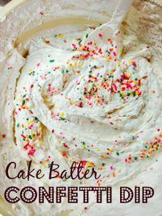 Foodie Files: Cake Batter Confetti Dip // Mississippi Mrs. Blog