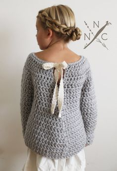 Crochet Pattern: The Lise Sweater 3/4 5/6 by NaturallyNoraCrochet