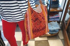 Sunday Big Ikat Bag Day! New handmade bag for all your summer essentials.