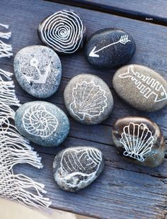 To use pebbles and stones to decorate is for me an infallible choice. I've always liked collecting pebbles and my daughters seem to ...