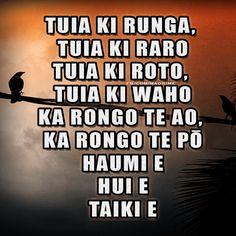 Tuia ki runga, Tuia ki raro Tuia ki roto, Tuia ki waho Ka rongo te ao, Ka rongo te pō Haumi e, Hui e Taiki e. Teaching Aids, Teaching Resources, Classroom Resources, Maori Words, Maori Symbols, Maori Designs, Maori Art, Human Condition, New Zealand