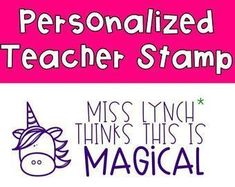 Custom Teacher Stamp