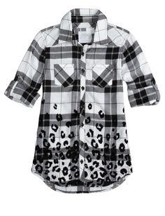 Girls' Tops, Tanks, Tees, Shirts & Blouses For Tweens Shirts For Girls, Kids Shirts, Katies Fashion, Animal Print Shirts, Justice Clothing, Stylish Shirts, Tank Shirt, Shirt Outfit, Cool Outfits