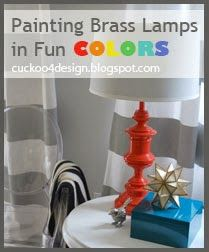 paint thrift store brass lamps