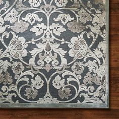 Sterling grey area rug in traditional design.