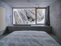 Photo 8 of 13 in Refuge in Concrete by Alpine Modern - Dwell Interior Architecture, Interior And Exterior, Exterior Design, German Architecture, Stone Interior, Futuristic Architecture, Contemporary Architecture, Amazing Architecture, Wooden Hut