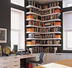 Corner Bookcase Designs 300x287 Corner Bookcase Designs