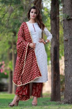 Product Description:-  Item Contain - 1 Pc Kurti ( 1 Pc Palazzo,1Pc Dupatta)  Material : 100% Rayon  Length : Long  Size : All Size Available( M,L,XL, XXL)  Pattern : Embroidered Work  Sleeves : Sleeve  Color : Red/White( Show In Image )  Work : Beautiful Embroidered work  Model Height : 5.8''  Length : 48-50 Inches  Fit Type : Regular Fit  Color Declaration:-  There Might Be Slight Variation In The Actual Color Of The Product Due To Different Screen Resolutions