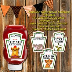 The Lion Gaurd Condiment by MyPrintablePartyLine on Etsy