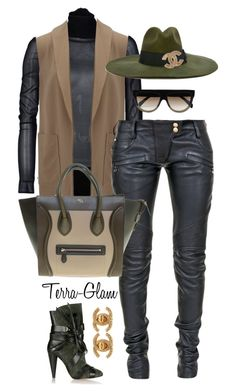"""Make Them Pieces Hit!"" by terra-glam ❤ liked on Polyvore featuring Isabel Marant, Space Style Concept, Alexander Wang, Balmain, Diesel, Chanel, CÉLINE, women's clothing, women's fashion and women"
