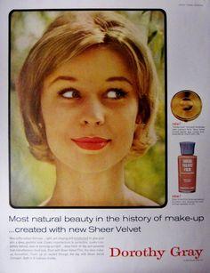 1959 Dorothy Gray Sheer Velvet Make-Up Vintage Advertisement Bathroom Wall Art Beauty Salon Decor Original Magazine Print Ad Paper Ephemera by RelicEclectic on Etsy
