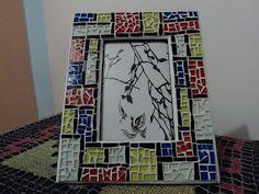 "Belbellita Zen Origami e Arte: Porta-retrato em mosaico ""Mondrian"""