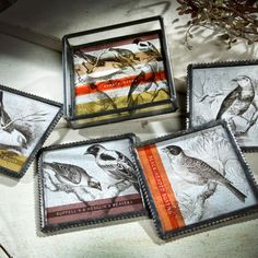 These glass coasters would make a great Father's Day gift for those dads that love bird watching!