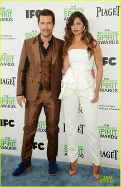 Matthew McConaughey and his wife Camila Alves at the 2014 Film Independent Spirit Awards