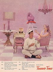 #pink #ad #poodleTreasure Tones Paint Ad 1958