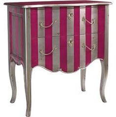 Pink/Silver Fontenay - eclectic - side tables and accent tables - by French Heritage