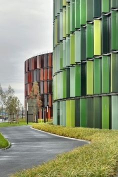 buildings modern creative colorful architecture archdaily http://www.archdaily.com/317820/cologne-oval-offices-sauerbruch-hutton/?utm_source=dlvr.it_medium=twitter