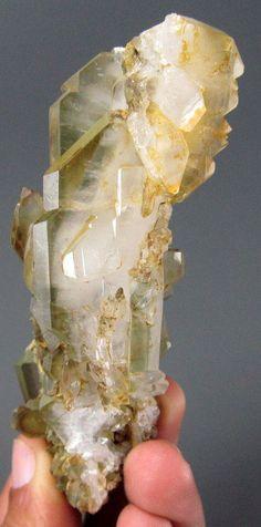 Chlorite Var Faden Quartz Crystal Specimen From Pakistan