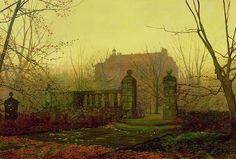 """Autumn Morning"" John Atkinson Grimshaw"