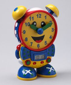 This clever interactive clock helps little ones learn to tell time. In learning mode, Telly teaches kids by displaying five-minute intervals on his hands and LCD screen. Once children master the basics, they can show off their skills with two quiz modes that test their knowledge in reading both digital and analog clocks. Perfect for helping to build confidence, Telly even features a built-in nightlight that makes him twice as adorable.