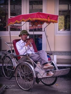 """The rickshaws driver Go to http://iBoatCity.com and use code PINTEREST for free shipping on your first order! (Lower 48 USA Only). Sign up for our email newsletter to get your free guide: """"Boat Buyer's Guide for Beginners."""""""