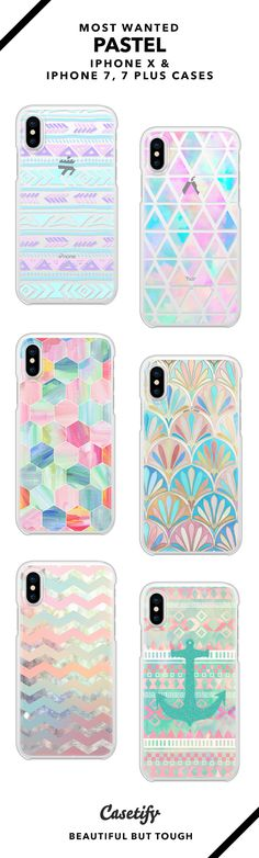 Most wanted Pastel Pattern iPhone X, iPhone 7 and iPhone 7 Plus case. - Shop them here ☝️☝️☝️ BEAUTIFUL BUT TOUGH ✨ - pastel, pastel art, patten, halogram