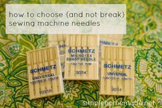 How to choose the right needle to use for your sewing machine depending on the fabric.