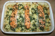 39 - Spitzkohlauflauf mit Lachs / Acicular cabbage casserole with salmon - Fertig gebacken